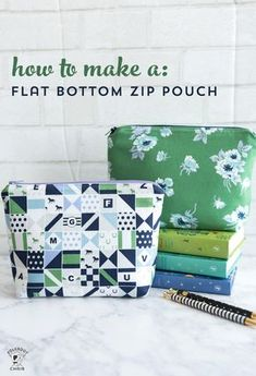 Learn to Sew Series: Stitch an Adorable Zippered Pouch Sewing projects Sewing Hacks, Sewing Tutorials, Sewing Crafts, Sewing Tips, Sewing Basics, Diy Gifts Sewing, Makeup Bag Tutorials, Free Tutorials, Sewing Blogs