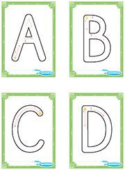 Alphabet writing practice, uppercase letter flashcards with guide, ABC flashcards + guide. Alphabet Writing Practice, Alphabet Activities, Preschool Activities, Letter Flashcards, Uppercase Alphabet, Tracing Letters, Letter Recognition, Lettering, French For Beginners