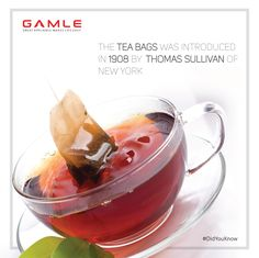 #DidYouKnow – The #Tea bags was introduced in 1908 by Thomas Sullivan of #NewYork #Gamle World Class #Kitchen #Appliances  #Chimney #Hob #Cooktop