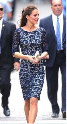 Cheap Dress - Best Mid Long Sleeve Lace Dress Slim Women Dress ...
