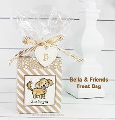 Bella & Friends Treat Bag with Stampin' Up! Demonstrator Angie Juda