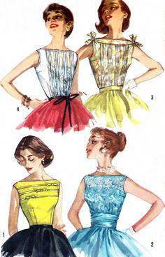 Rare 1950s Blouse Pattern Simplicity 2051 Womens by paneenjerez, $18.00