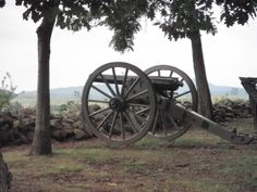 Civil War canon overlooking the battleground