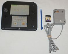 Nintendo 2DS Electric Blue Handheld System with charger 4GB SD Card #Nintendo