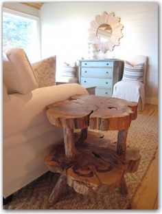 Tree Trunk table!!