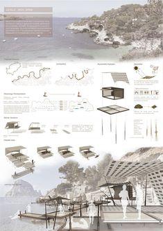 MESC1276 Architecture Concept Drawings, Architecture Board, Architecture Graphics, Japanese Architecture, Futuristic Architecture, Architecture Diagrams, Rendering Architecture, Presentation Board Design, Architecture Presentation Board