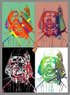 Darth Vader (neon sketches | By: Nerd Jersey Arts, via Star Wars Daily | #starwars #starwarsfanart #darthvader