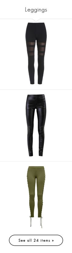 """""""Leggings"""" by haileyscomet95 ❤ liked on Polyvore featuring pants, leggings, bottoms, jeans, black, stretchy pants, stretch waist pants, stretch waistband pants, elastic waist pants and mesh-panel leggings"""