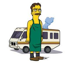 Breaking Bad – Personagens ganham versão ao estilo Simpsons | Garotas Nerds