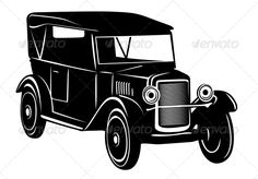 Vintage car of 1920s years  #GraphicRiver