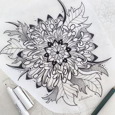 "alucinori: "" chrysanthemum mandala // more drawings on my tumblr, instagram and etsy """