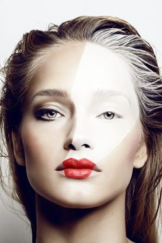 Alexander Straulino for Amica Italy November 2013 #Beauty #Makeup #RedLips