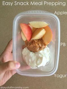 My Meal Prepping Routine Easy meal prepping for snacks on the go.Easy meal prepping for snacks on the go. Lunch Snacks, Easy Snacks, Clean Eating Snacks, Healthy Snacks, Healthy Eating, Healthy Recipes, Lunches, Office Snacks, Snacks Homemade