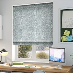 Sissinghurst Duck Egg Roman Blind