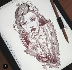 Discover recipes, home ideas, style inspiration and other ideas to try. Traditional Gypsy Tattoos, Traditional Tattoo Woman, Traditional Tattoo Flash, Tattoo Sketches, Tattoo Drawings, Tattoo Ink, Arm Tattoo, Flapper Tattoo, Calf Tattoos For Women