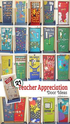 Teacher Appreciation Week is coming! Check out 21 Awesome Teacher Appreciation Door Ideas {} Which one is perfect for your teacher's door? Best Teacher, Teacher Gifts, Teacher Presents, Teacher Birthday Gifts, Teacher Stuff, Teacher Door Decorations, Catholic Schools Week, Teachers Week, Welcome Students