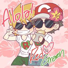 Pokemon Manga, Pokemon Alola, Pokemon Ships, Cute Pokemon, Pokemon Game Characters, Green Pokemon, Pikachu, Pokemon Photo, Pokemon Couples
