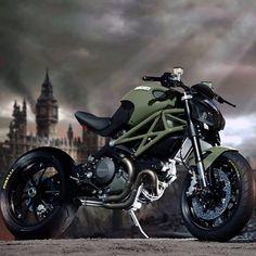 "Ducati Monster ""Apocalypse"" By: Krax Moto, France #repost #ducatistagram #ducati #monster"
