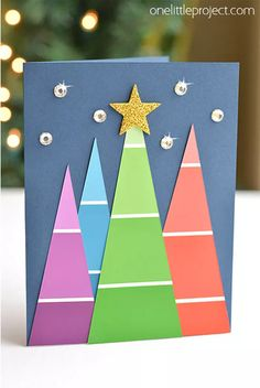 Take your creative skills to the next level with these unique homemade Christmas cards.See more ideas about DIY Christmas Cards Quick And Easy To Make . Diy Holiday Cards, Simple Christmas Cards, Homemade Christmas Cards, Xmas Cards, Holiday Ideas, Christmas Cards Handmade Kids, Scrapbook Christmas Cards, Handmade Cards, Painted Christmas Cards