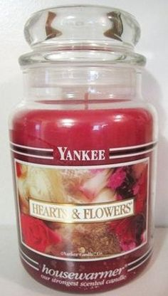 Hearts & Flowers Yankee Candle. This is my all time favorite scent. Miss it so much