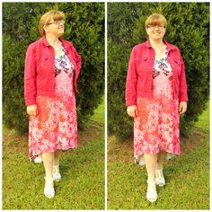 Scarlet Floral Hi-Lo Tank Dress #ShareMeGB #GwynnieBee