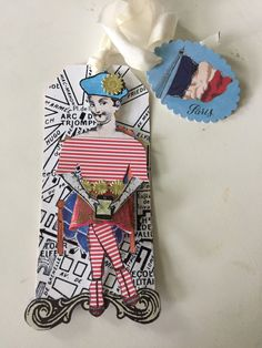 Created with art stamps from the Paris Flea from Character Construtions