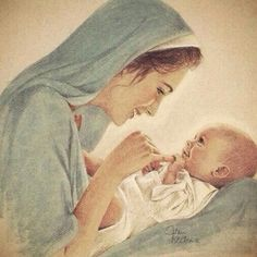 The gaze of Mary and Jesus