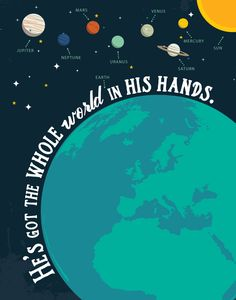 He S Got The Whole World In His Hands Childrens Bible Songs Bible Songs Bible Verse Prints