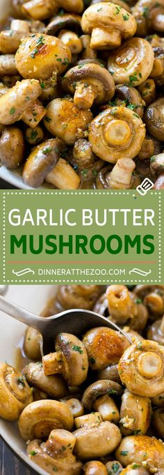 Garlic Mushrooms Recipe | Steakhouse Mushrooms | Sauteed Mushrooms | Garlic Butter Mushrooms | Mushroom Side Dish