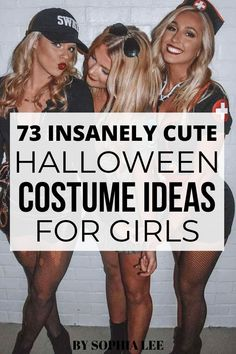 These college halloween costumes for girls are so easy and trendy!! literally love all of these I can't wait to wear one this halloween
