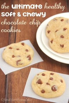 These buttery Chocolate Chip Cookies are so soft and chewy! No one would ever guess they're secretly skinny & low in fat.