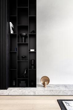 Australian Interior Design, Interior Design Awards, Interior Decorating, Architecture Restaurant, Interior Architecture, Living Room Inspiration, Interior Inspiration, Shelving Design, Cabinet Design