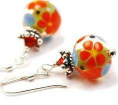 Lampwork Earrings Maximum Joy