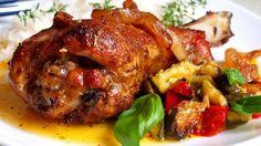 Pečené krůtí paličky na másle a bylinkách | Vaření s Tomem Tandoori Chicken, Chicken Wings, Meat, Ethnic Recipes, Buffalo Wings