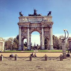 Arco della Pace nel Milano, Lombardia