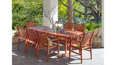 Area 9 Piece Outdoor Dining Setting