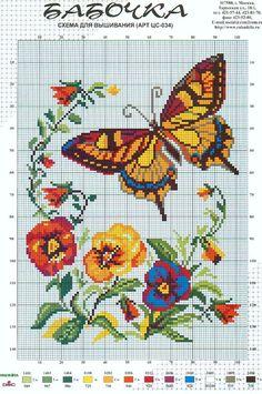 Butterflies & pansies perler bead pattern
