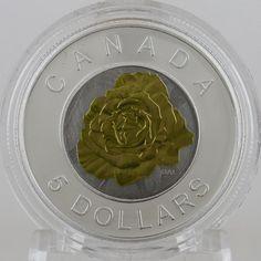 Canada 2014 Niobium Flowers #3 Christmas Poinsettia $5 Silver Niobium BiMetallic