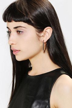 Open Triangle Hoop Earring - Urban Outfitters