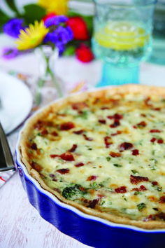 Spinach, Bacon, and Artichoke Quiche recipe