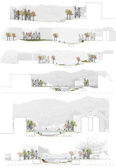 Imagen 3 de 20 de la galería de Segundo Lugar Concurso De Ideas Para La Integración Urbana Del Río Guadalmedina. Secciones