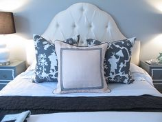 Amber Interior Design: Love this headboard to pieces! Have to find one like it for my guest bedroom.