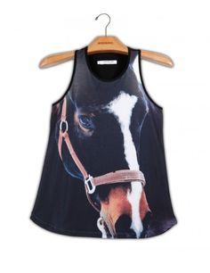 Camiseta Regata Premium Cavalo Noite www.usenatureza.com #UseNatureza #JeffersonKulig