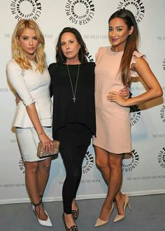 Ashley Benson, Marlene King, and Shay Mitchell