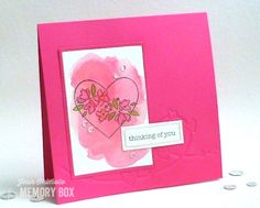 Heart Wire die imprinted in the background for texture with watercolored image from the So Many Things to Love stamp set