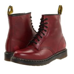 Holiday Sale! Dark red doc martens! Classic doc martens in a dark red color... Worn only a few times  Urban Outfitters Shoes
