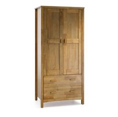 Eleanor 2 Door / 2 Drawer Wardrobe in Honey