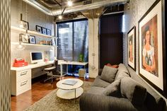 Dwelling Designs Warehouse District Loft - contemporary - home office - minneapolis - Mark Teskey Architectural Photography