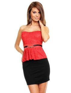 Vestido fiesta Butterfly red-black