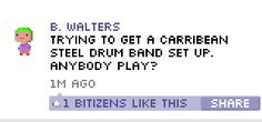 Funny BitBook post in Tiny Tower for iOS!
